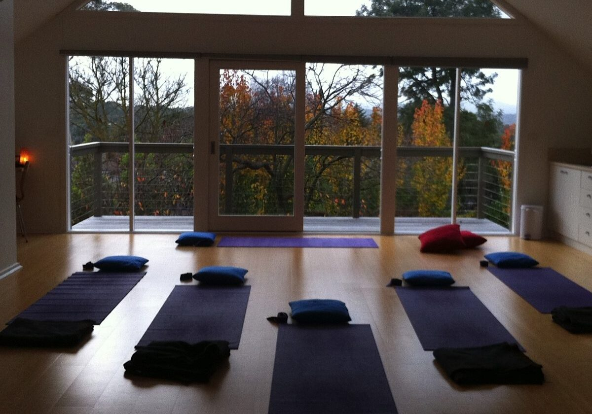 Natural Pathways Yoga Studio at dusk